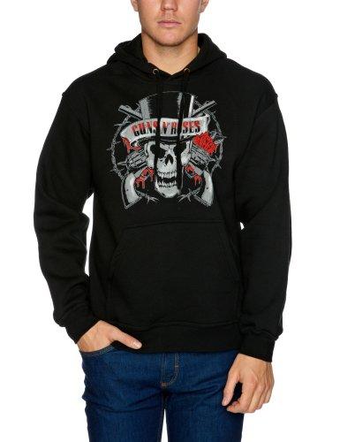 Bravado Guns N Roses Distressed Skull Men's Sweatshirt Black X-Large