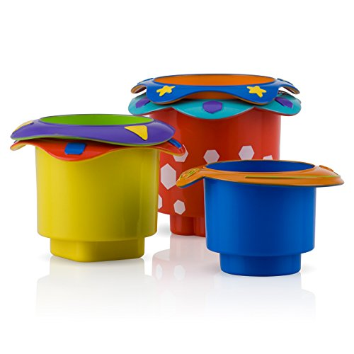 Nuby 5 Count Splish Splash Stacking Bath Cups New Born, Baby, Child, Kid, Infant front-326760