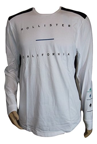 Men's Hollister Long Sleeve Two-Toned Black and White Long Sleeve Shirt (X-Large) (Hollister Company compare prices)