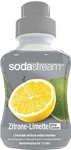 Sodastream Sirup Zitrone-Limette - ohne Zucker, 2er Pack (2 x 500 ml)