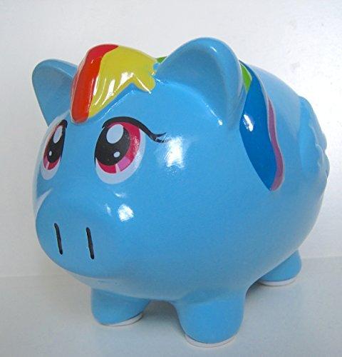 My Little Pony Coin Bank Friends Is Magic Blue Pony Rainbow Dash Piggy Bank - 1