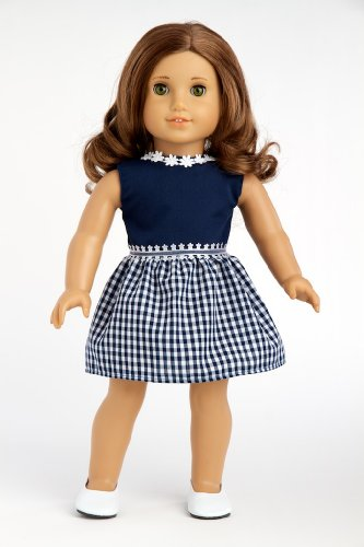 Navy Blue Dress (Shoes sold separately) - Clothing for 18 inch Dolls