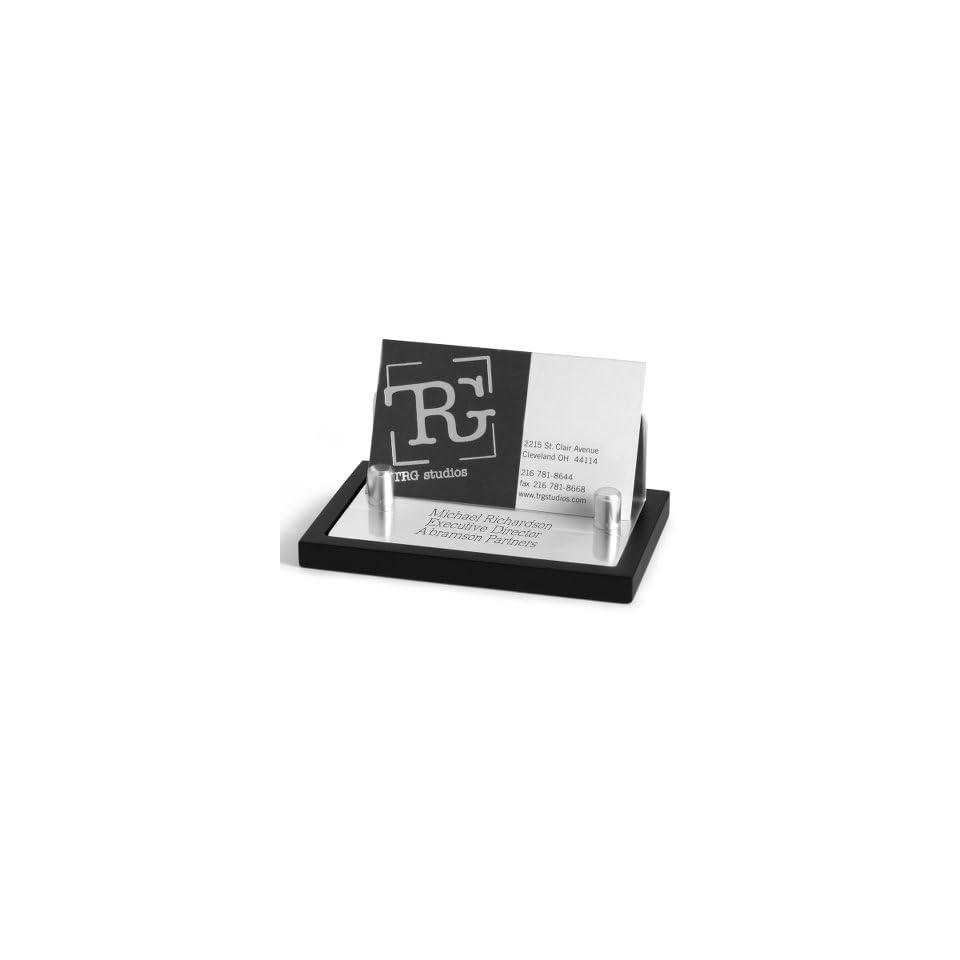 Personalized Black Matte Card Holder