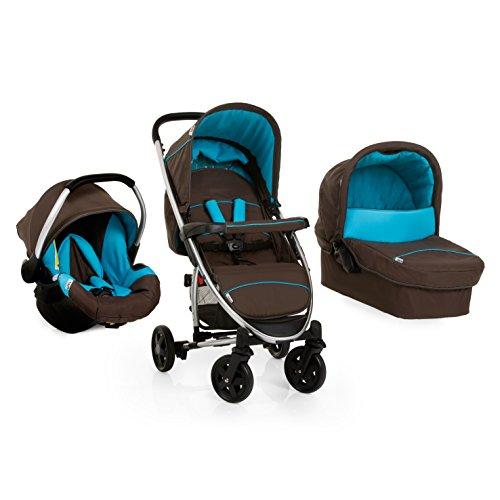142813 Miami 4 Trio Kinderwagen Set inklusive Wanne, Zero Plus Comfort