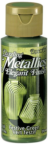 DecoArt Dazzling Metallics 2-Ounce Festive Green Acrylic Paint (Green Metallic Paint compare prices)