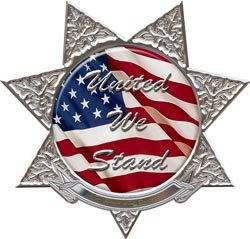 United We Stand 7 Point Star Police Decal - 6