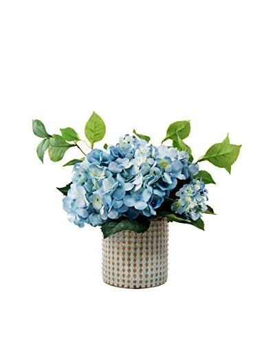Creative Displays Blue Hydrangea in a Ceramic Container