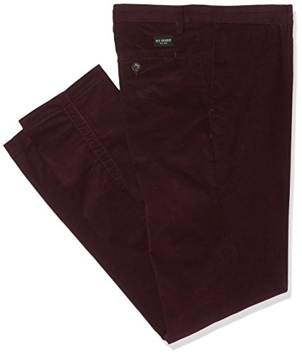 Ben Sherman Skinny Cord, Pantaloni Uomo, Red (Burnt Red), W34
