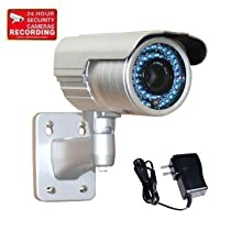 "VideoSecu 1/3"" PIXIM DPS Bullet Security Camera Outdoor Day Night Vision WDR OSD 690TVL 48 IR Infrared Leds 6-15mm Zoom Lens with Power Supply and Security Warning Sticker IR69WD BBE"