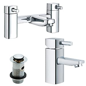 Bath & Basin Mixer Tap Set, Chrome Bathroom Taps (ICE 51)       Customer reviews and more news