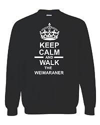 Keep Calm & Walk The Weimaraner Unisex Sweatshirt Jumper