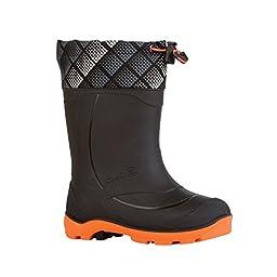 Kamik Snobuster2 Snow Boot (Toddler/Little Kid/Big Kid), Black/Orange, 6 M US Big Kid