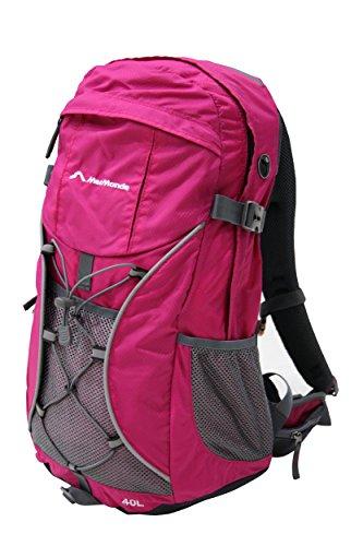 MerMonde (メルモンド) バックパック 40L リュックサック ザック 登山 レインカバー付き (ピンク)
