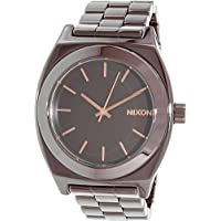 Nixon A2501192 Ceramic Time Teller Brown Ceramic Women's Watch (Dark Brown Dial)