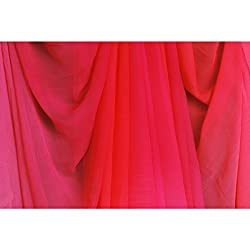 Aagaman Fashions Chiffon Fabrics (TSFDY26_Red)