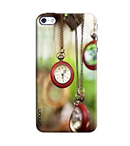 Omnam Clock Hanging With Chains Printed Designer Back Cover Case For Apple iPhone 4/ 4S