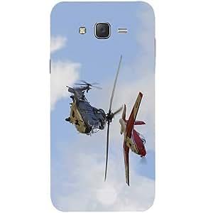 Casotec Puma Helicopter Design Hard Back Case Cover for Samsung Galaxy J2