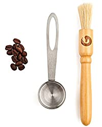 BEST Coffee Grinder Brush and Scoop by Coffee Gator. Premium Quality