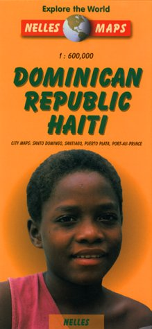 Nelles Dominican Republic / Haiti Travel Map with City Maps (English, French and German Edition)