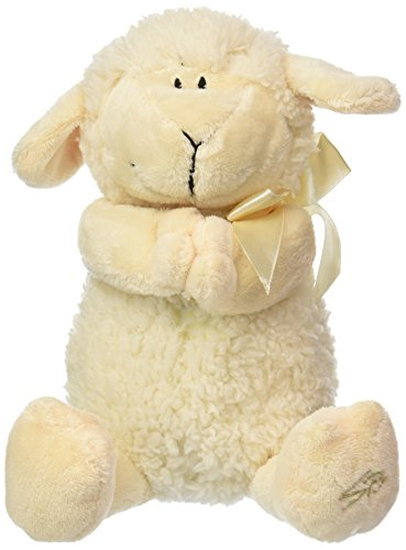 Stephan Baby Ultra Soft and Huggable Musical Praying Woolly Lamb, Cream