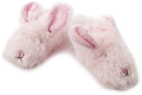 Mud Pie Baby-girls Infant Plush Bunny Slippers, Pink, 2-3T