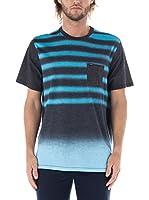 Nike Hurley Camiseta Manga Corta Raglan Destroy Crew (Turquesa / Antracita)