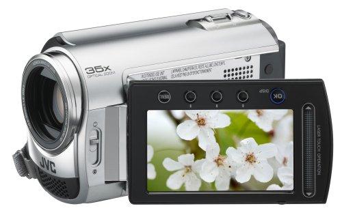 JVC GZ-MG330H Slim HDD/microSD Hybrid Camcorder With Konica Minolta Lens (35x Optical Zoom)