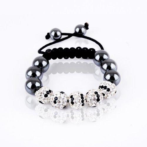 Rivertree London Children's crystal disco ball shamballa bracelet b710 zebra