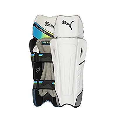 Puma Pulse 5000 Flex Fit Wicket Keeping Leg Guards, Men's (White) Senior