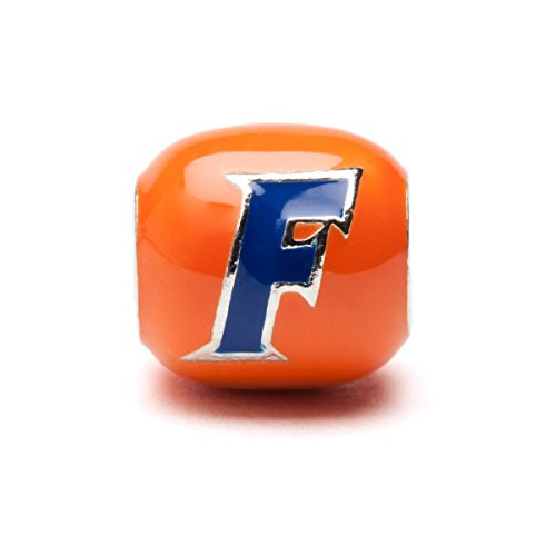 Orange and Blue Florida Gators Block Charm - Stainless Steel