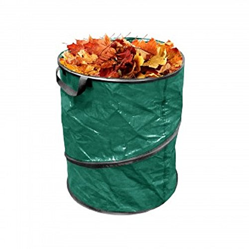 "Pop-Up Leaf, Garden & Camping Trash Can 13 Gallon approx 23"" x 18"" Size Collapsible Durable Woven Plastic Bag"