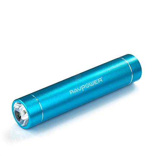 Ravpower® 3Rd Gen Mini 3200Mah Portable Charger Lipstick-Sized External Battery Pack Power Bank Charger, Ismart Broad Compatibility, Fast Charging (Ultra Bright Flashlight With High/Low/Strobe Modes, 5V/1A Output) For Iphone 6,6 Plus, 5S, 5C, 5, 4S, 4, Ip