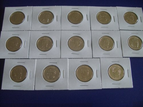 2007 - 2010 P First 14 Presidential Golden Uncirculated Dollar Coins Set From Philadelphia Mint