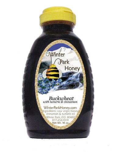 Buckwheat Honey with Cinnamon and Turmeric - 16 oz (Pure Natural Honey)
