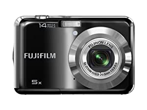 FUJIFILM FinePix AX330 14 MP Digital Camera with 5 x Optical Zoom - Black