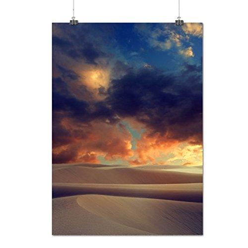 cloud-sky-over-desert-hot-sahara-matte-glossy-poster-a2-60cm-x-42cm-wellcoda