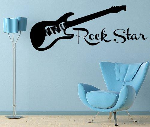 Decal Wall Vinyl Decor Sticker Bedroom Music Kids Children Art Guitar Rock Star front-338557
