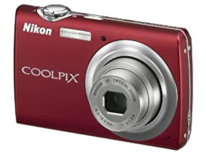 Nikon Coolpix S220 Digitalkamera (10 Megapixel, 3-fach optischer Zoom, 7,6 cm (3 Zoll) Display) rot