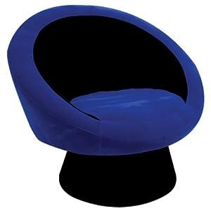 Saucer chair black blue