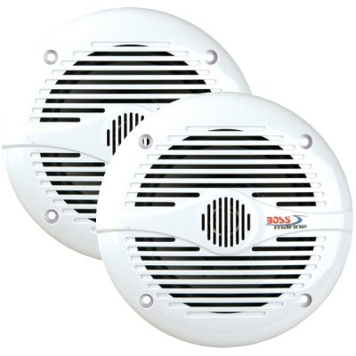 "Boss Audio Mr50W 5.25"" Round White Marine Speakers"