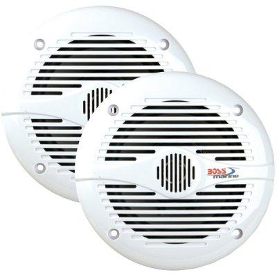 """Boss Audio Mr50W 5.25"""" Round White Marine Speakers"""