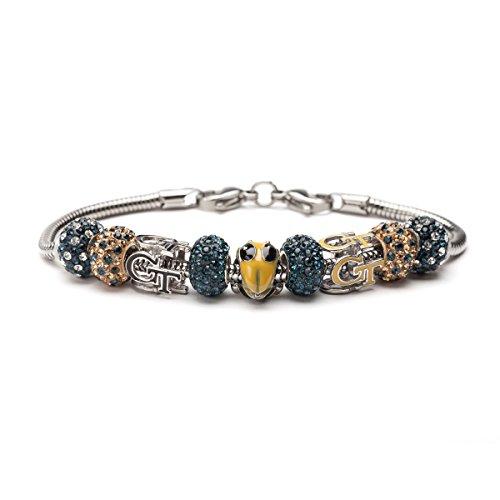 Georgia Tech GT Yellow Jackets Bead Charm Bracelet Jewelry