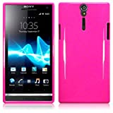 Sony Xperia S LT26i Tpu Gel Skin Case / Cover (Solid Hot Pink)by TERRAPIN