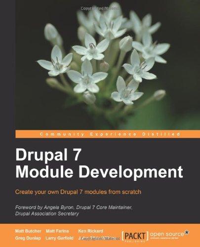 Drupal 7 Module Development 1849511160 pdf