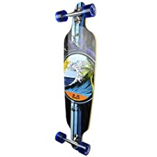 Drop Through Complete Longboard Professional Speed Skateboard (Wave)