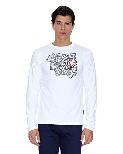 The Indian Face Camiseta Manga Larga Básica Blanco