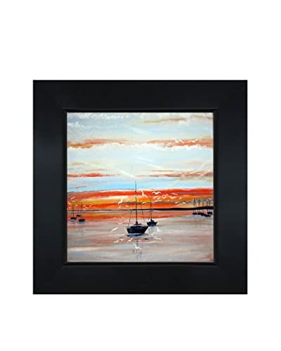 Susan Art Lake Hourtin Framed Canvas Print