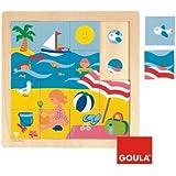 Goula - 53086 - Jouet en Bois - Eveil - Puzzle - été