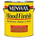 Minwax 71005000 Wood Finish Penetrating Stain, gallon, Colonial Maple (Color: Colonial Maple, Tamaño: Gallon)