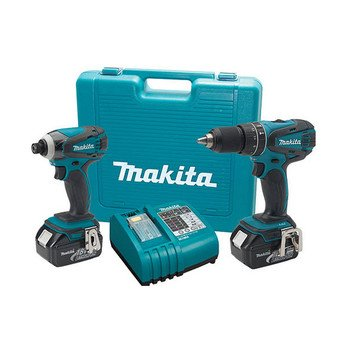 Factory-Reconditioned Makita Lxt211-R Lxt 18V Cordless Lithium-Ion 1/2 In. Hammer Drill And Impact Driver Combo Kit